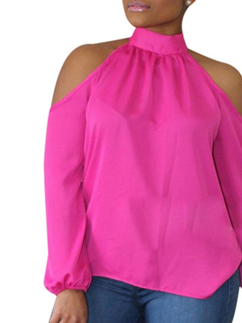 Ericdress Plain Standard Off-Shoulder Blouse