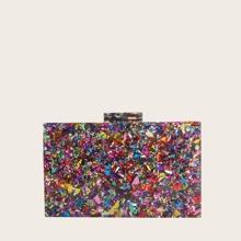 Confetti Acrylic Clutch Bag