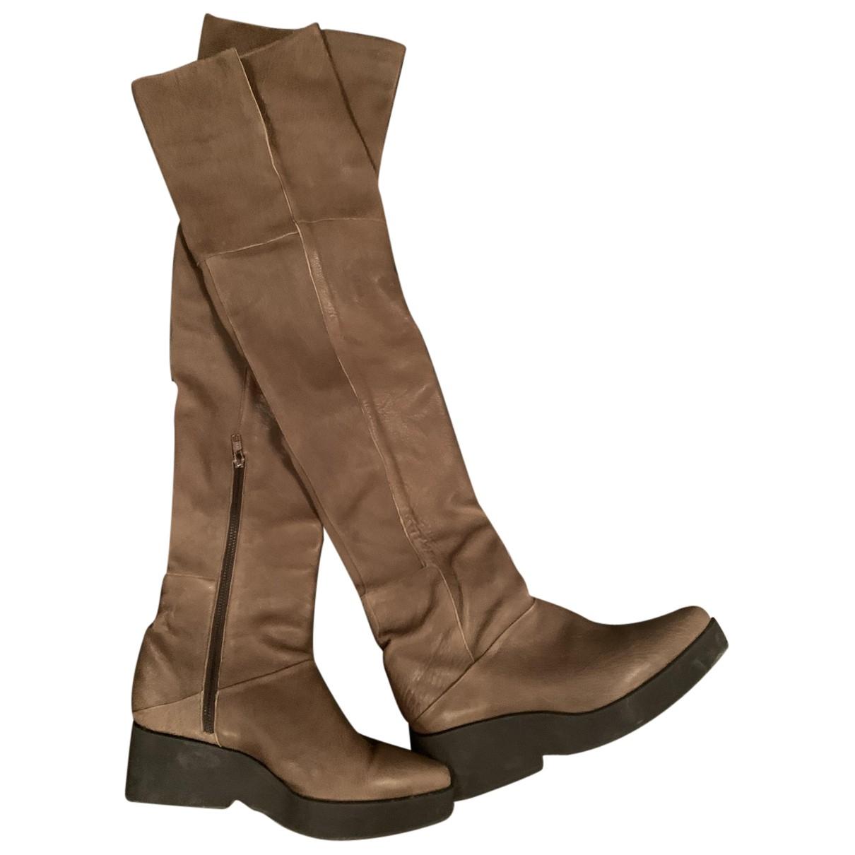 Ld Tuttle - Bottes   pour femme en cuir - marron