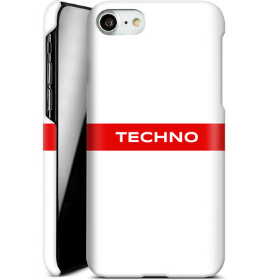 Apple iPhone 7 Smartphone Huelle - RED LINE von Berlin Techno Collective