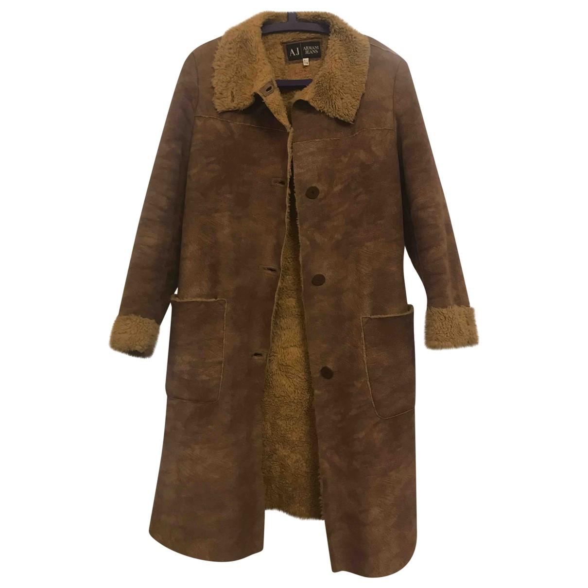 Armani Jeans \N Brown Faux fur coat for Women 42 IT