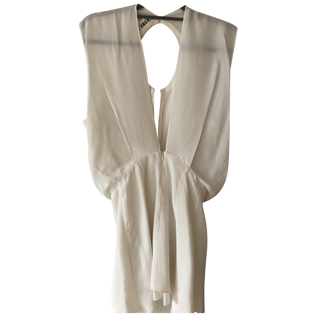 Acne Studios \N White Cotton - elasthane dress for Women S International