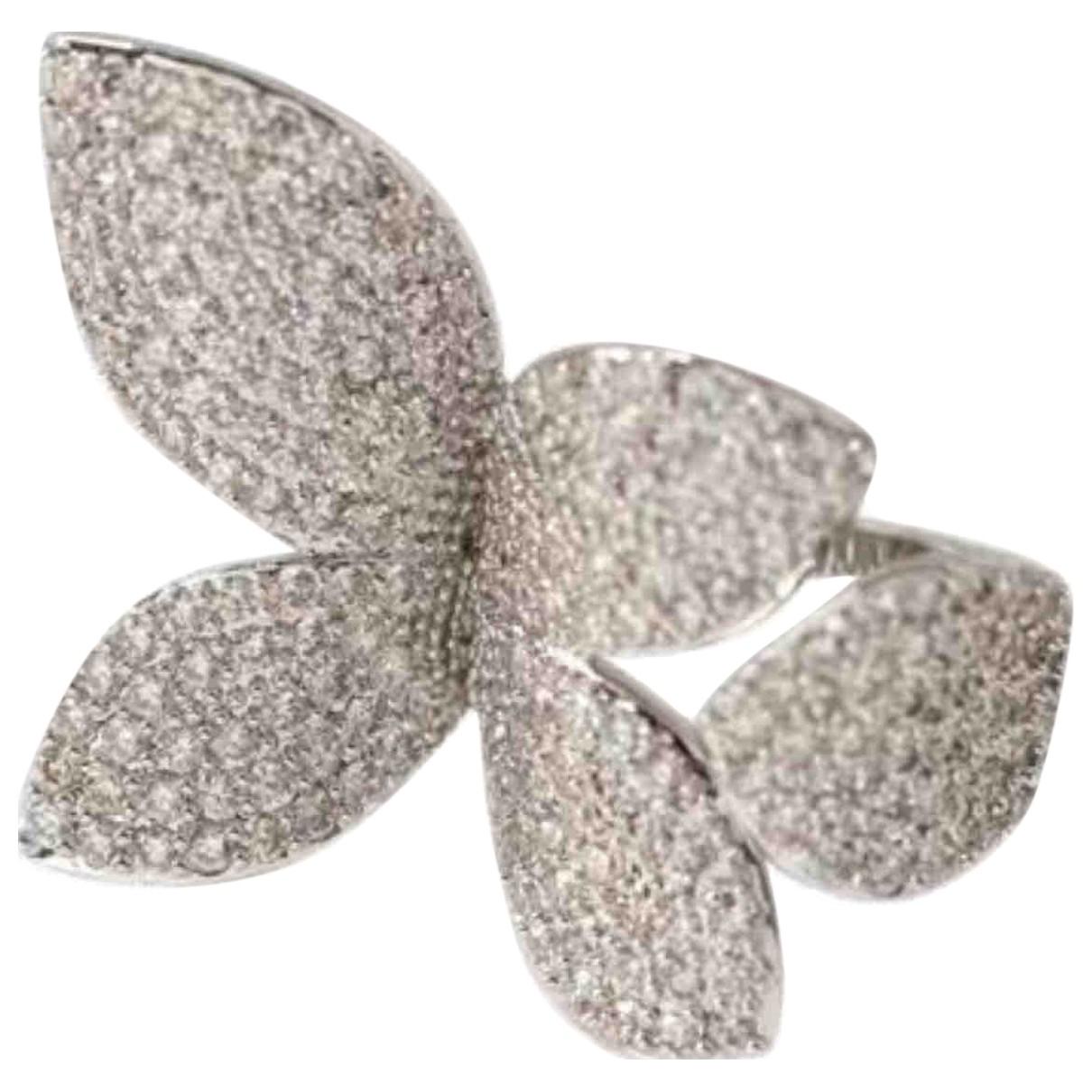 - Bague Motifs Floraux pour femme en metal - argente