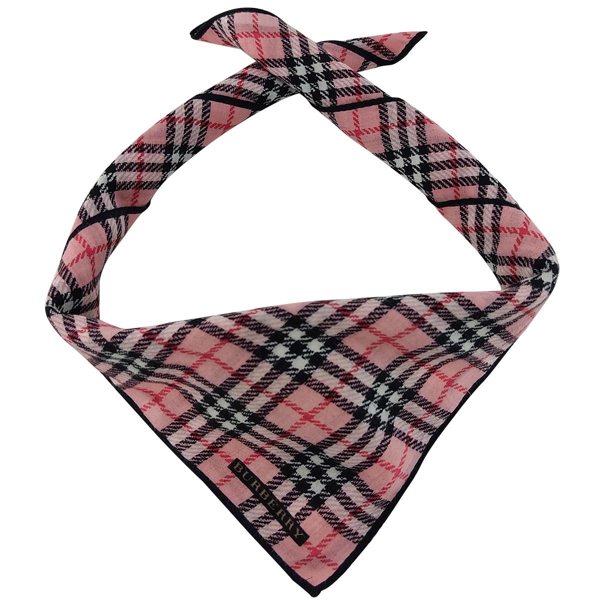 Burberry \N Pink Cotton scarf & pocket squares for Men \N