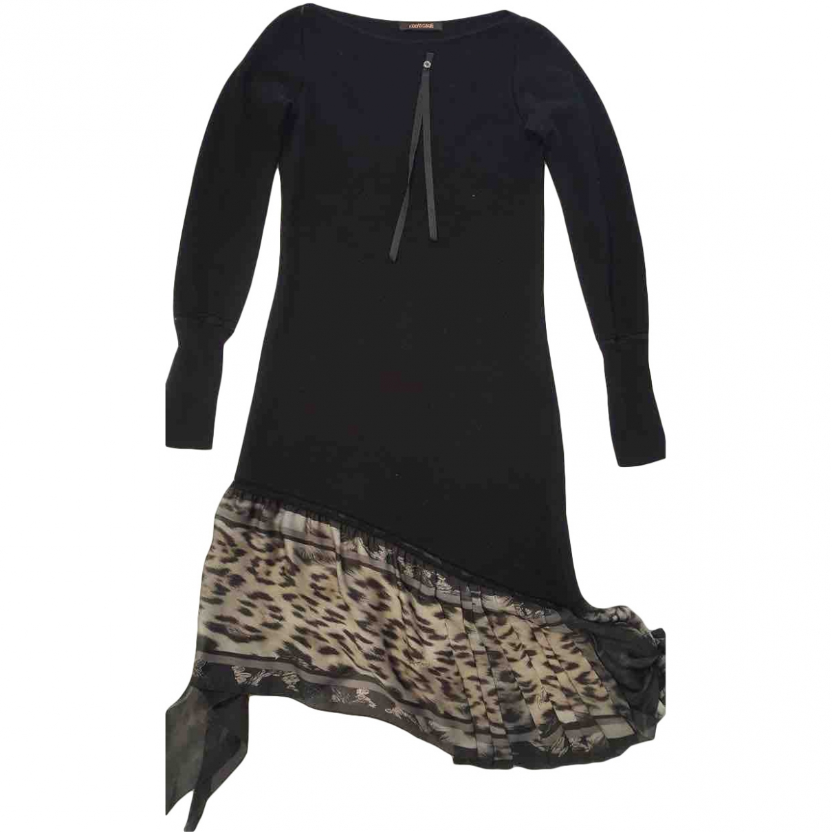 Roberto Cavalli \N Black Wool dress for Women 44 IT