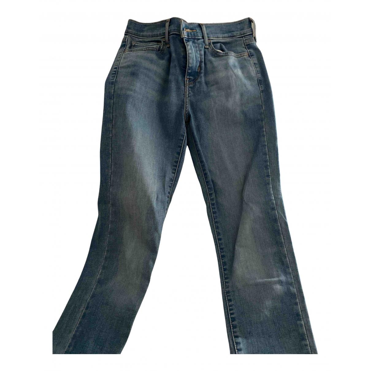Levi's N Blue Cotton Trousers for Women 36 FR