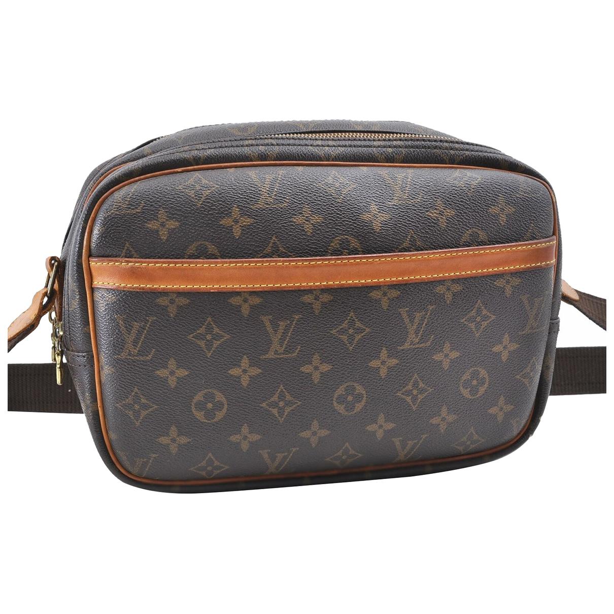 Louis Vuitton \N Handtasche in  Braun Leinen