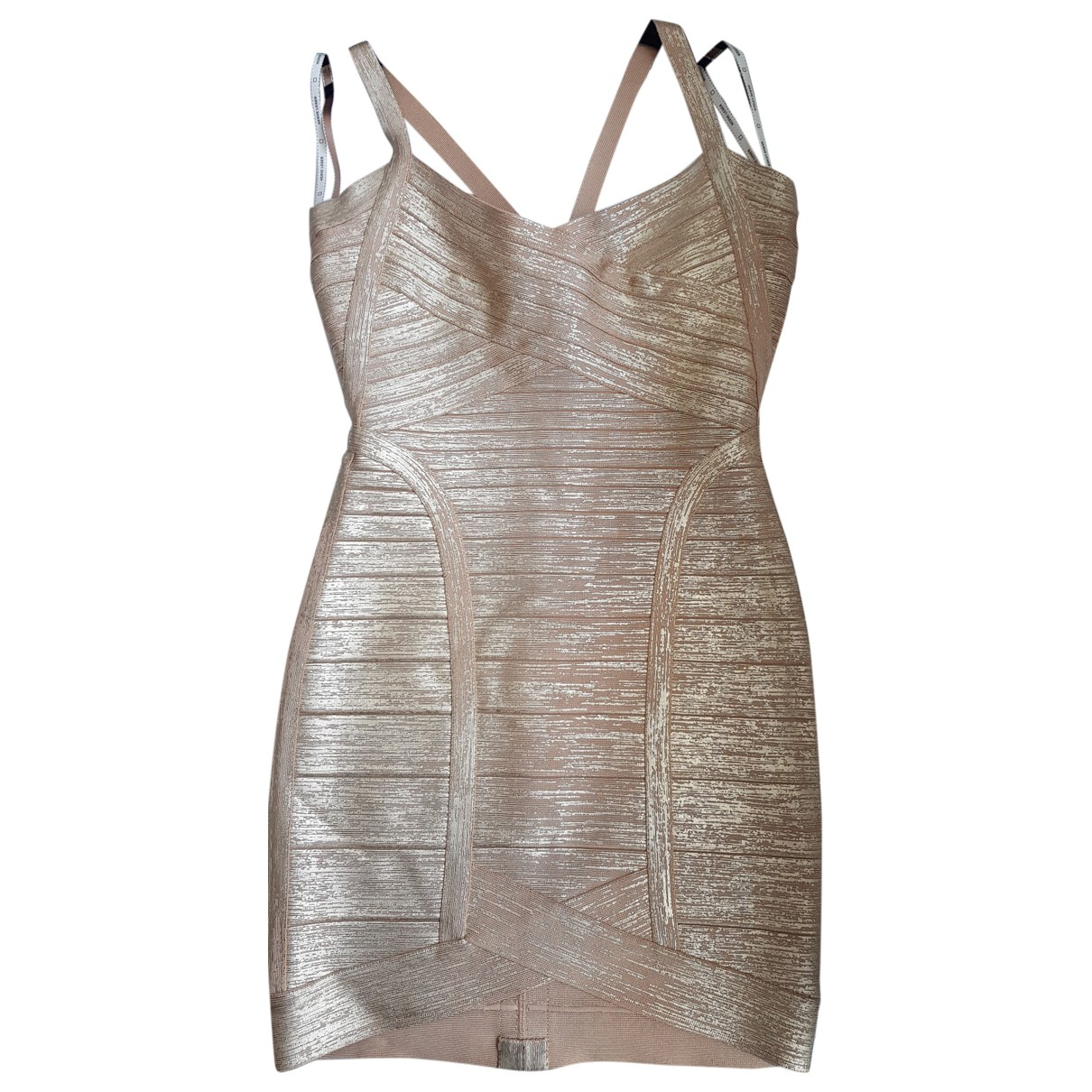 Herve Leger \N Kleid in  Gold Mit Pailletten