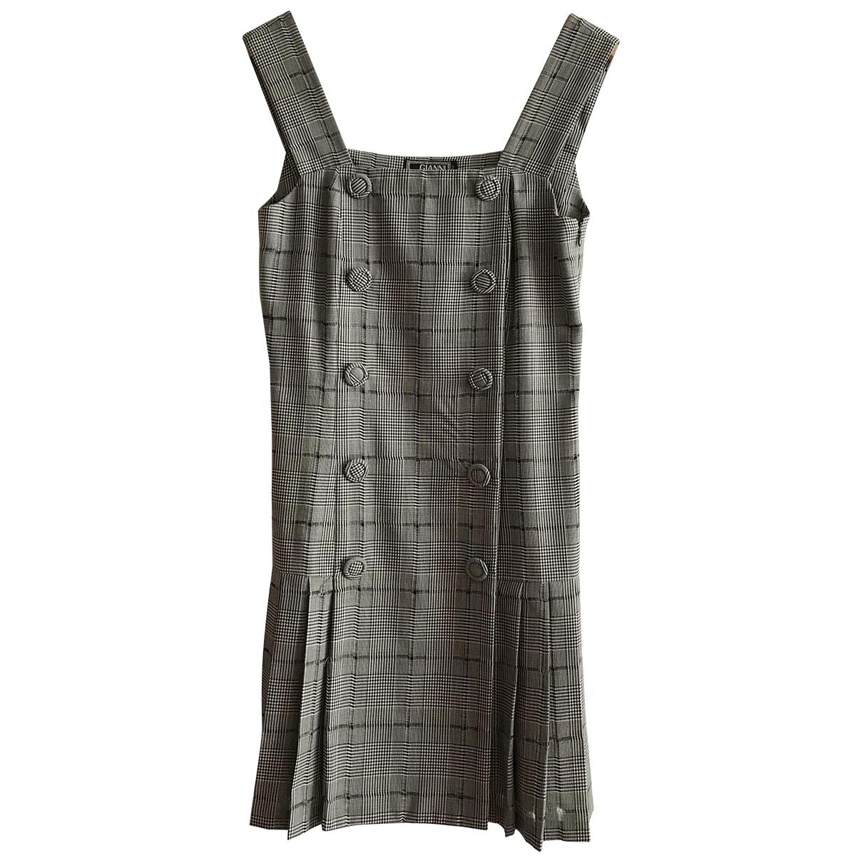 Gianni Versace \N Kleid in  Schwarz Baumwolle