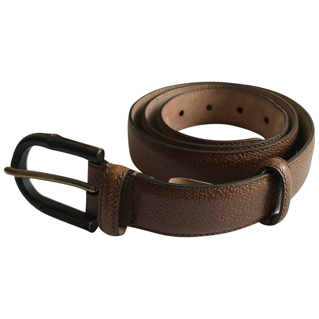 Gucci \N Brown Leather belt for Men 90 cm