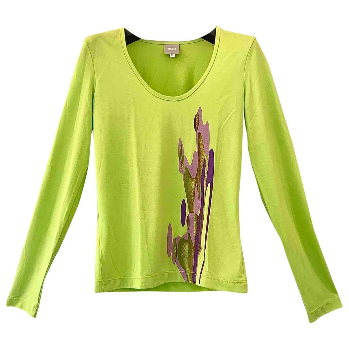 Versace Jeans \N Green Cotton  top for Women S International