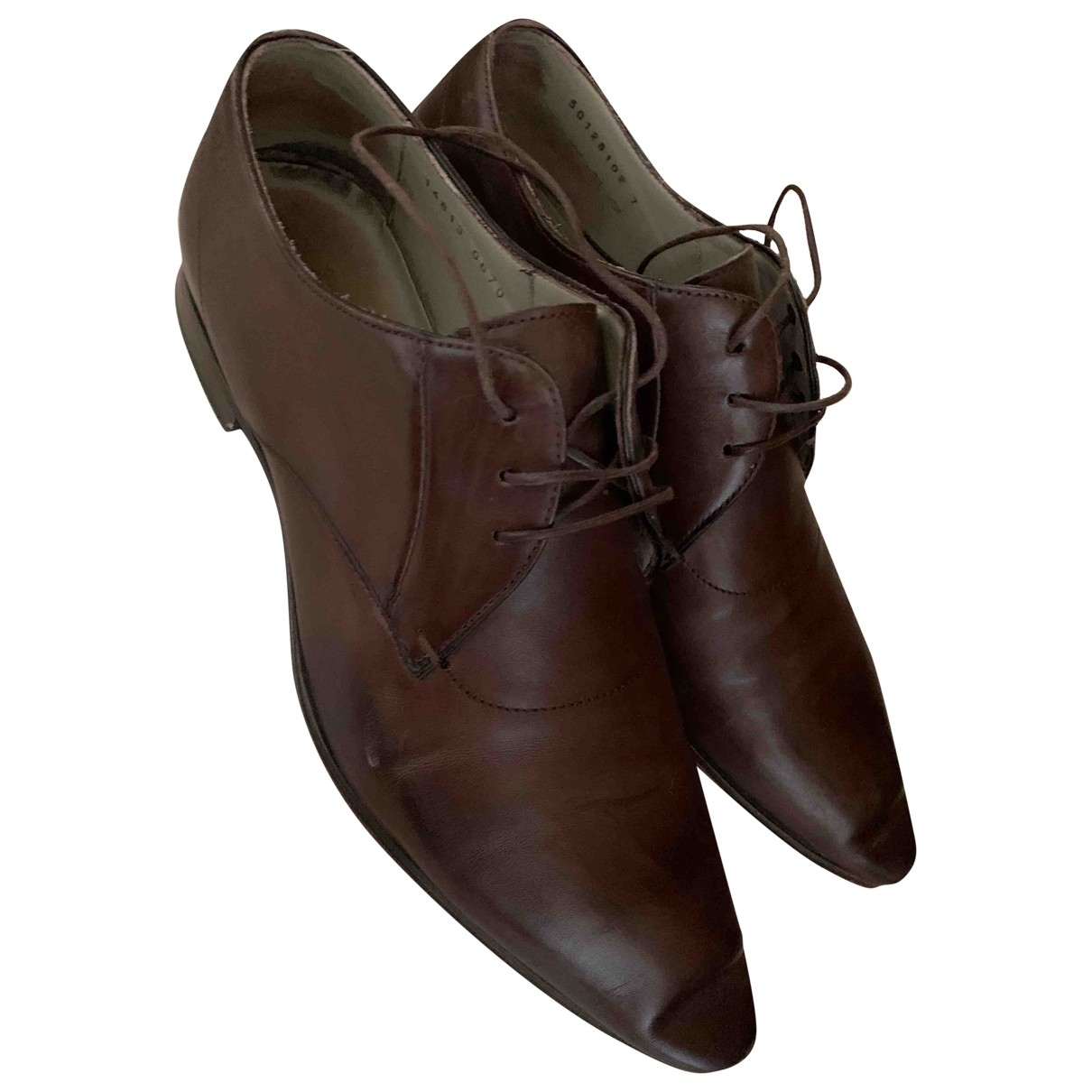 Boss \N Brown Leather Lace ups for Men 7 US