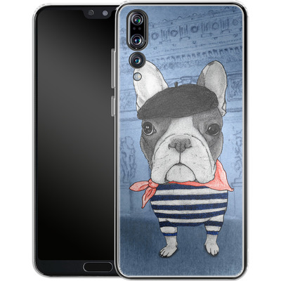 Huawei P20 Pro Silikon Handyhuelle - French Bulldog with Arc de Triomphe von Barruf