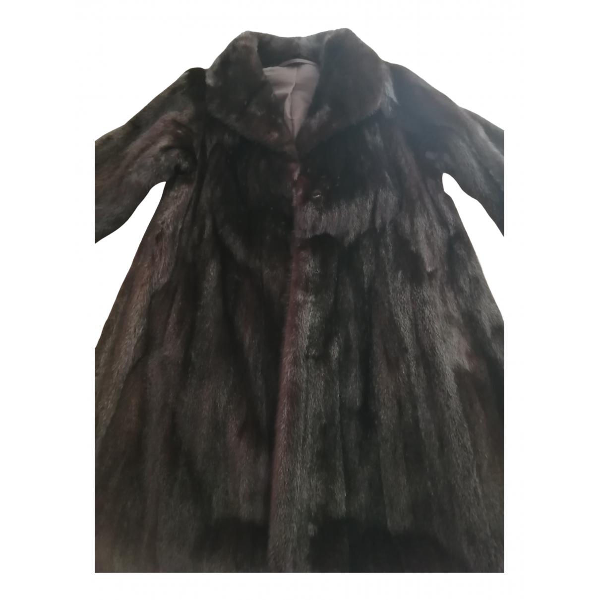 Giorgio & Mario - Manteau   pour femme en vison - noir