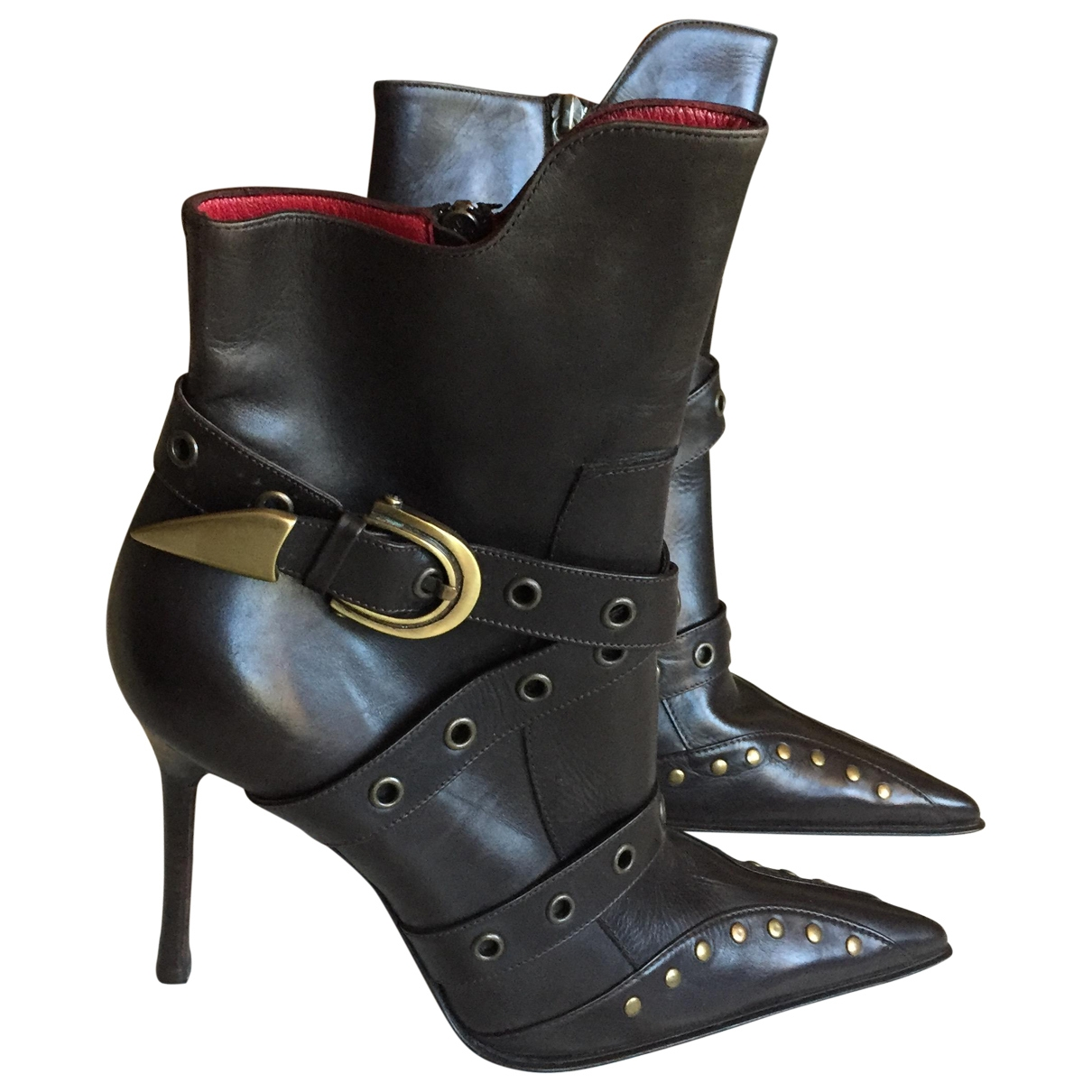 Cesare Paciotti \N Leather Ankle boots for Women 40 IT