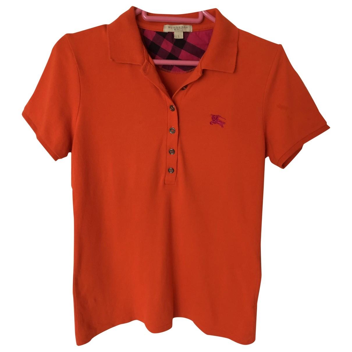 Burberry \N Orange Cotton  top for Women S International