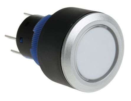 RS PRO Single Pole Double Throw (SPDT) Momentary Red LED Push Button Switch, IP65, 22.2 (Dia.)mm, Panel Mount, 250V ac (20)