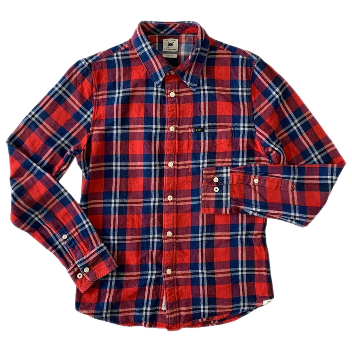 Lee - Top   pour femme en coton - rouge