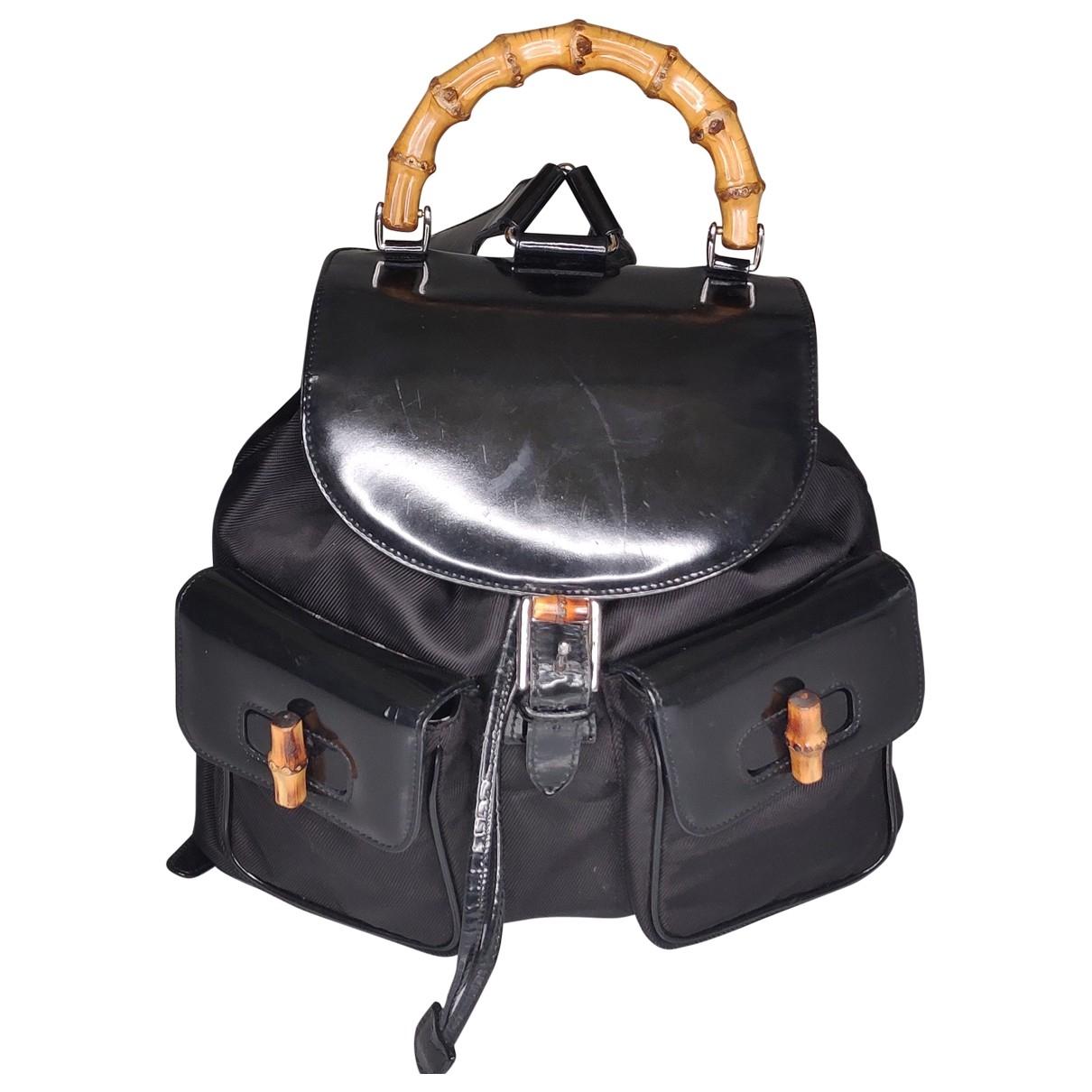 Gucci Bamboo Black Cloth backpack for Women \N