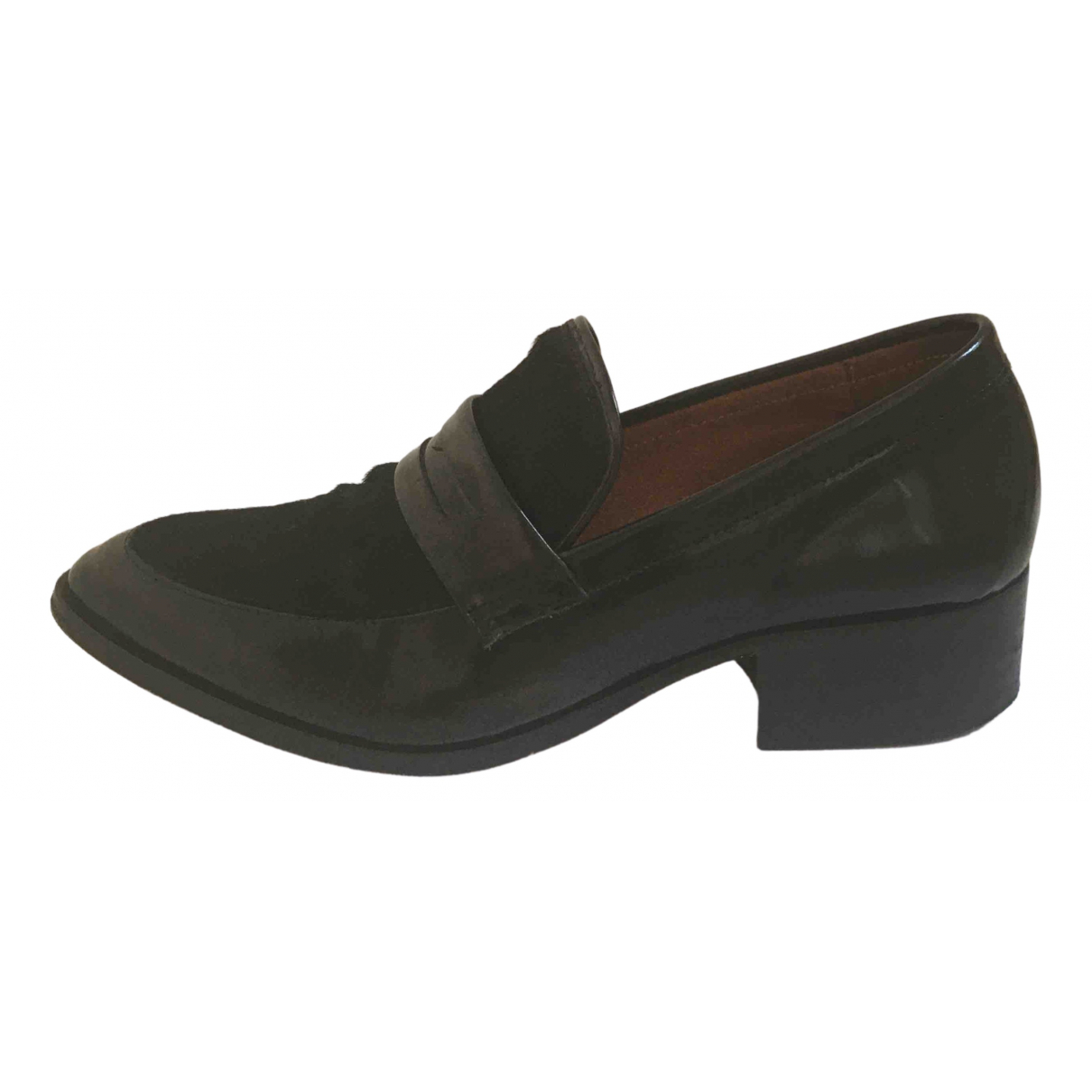 Whistles \N Black Leather Flats for Women 38 EU
