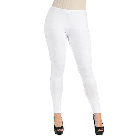 24/7 Comfort Apparel Stretch Leggings, Small , White
