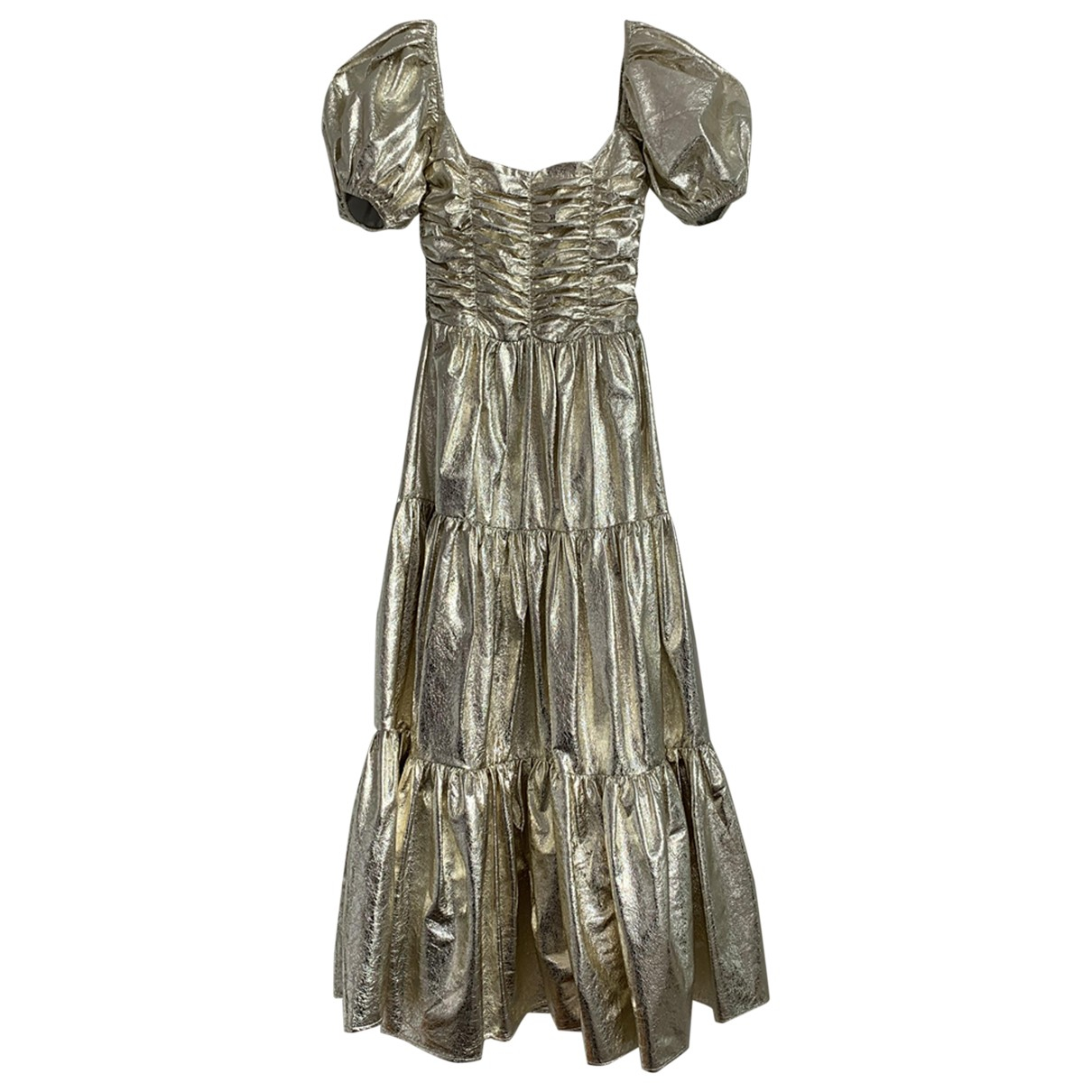 Georgia Alice \N Kleid in  Gold Polyester