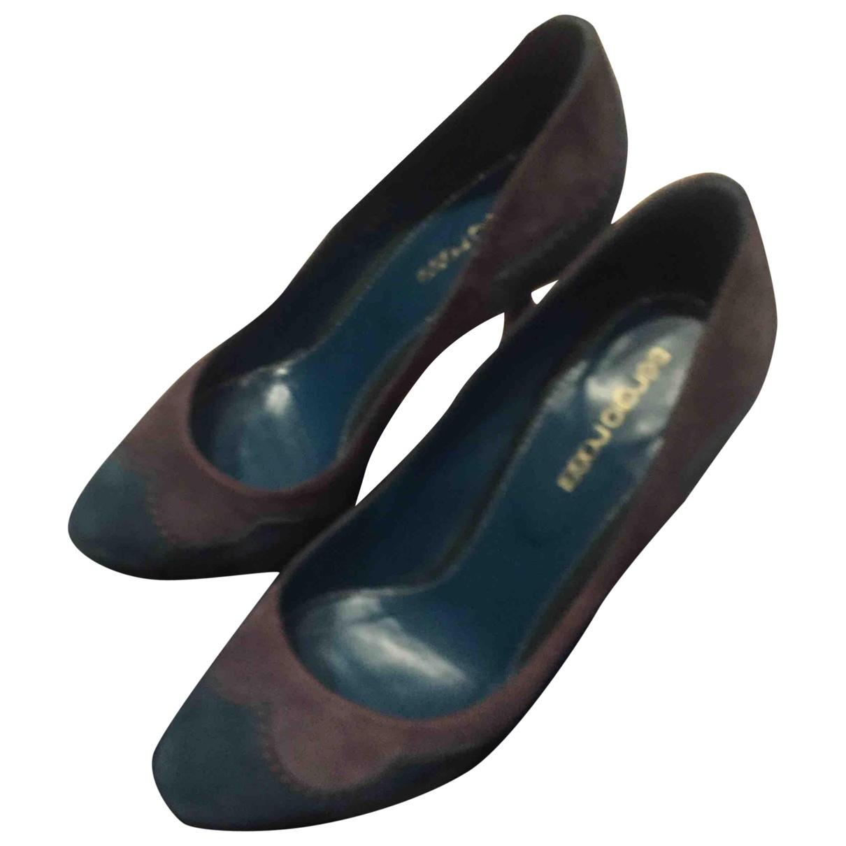 Sergio Rossi \N Grey Suede Heels for Women 36.5 EU