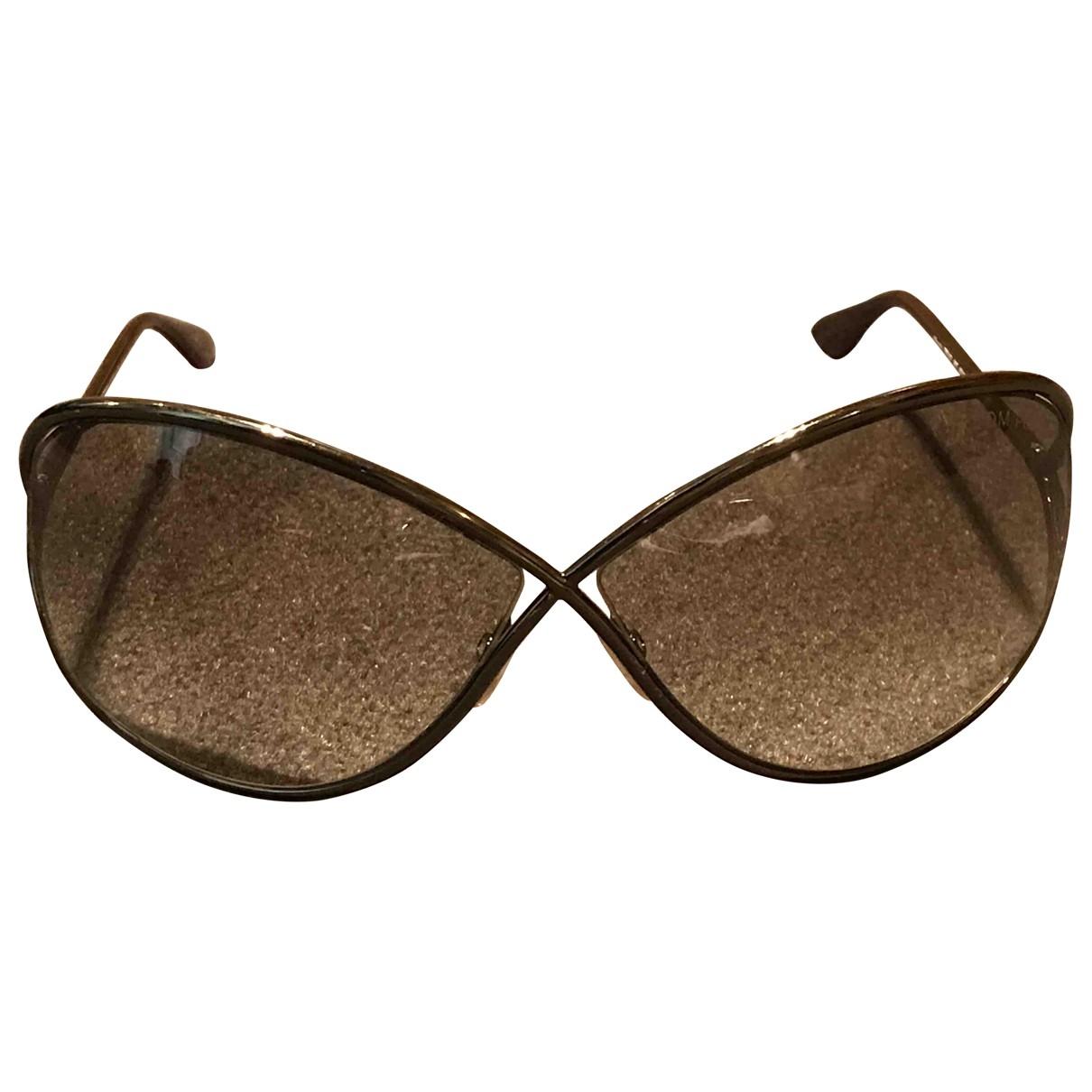 Tom Ford \N Sonnenbrillen in  Braun Metall
