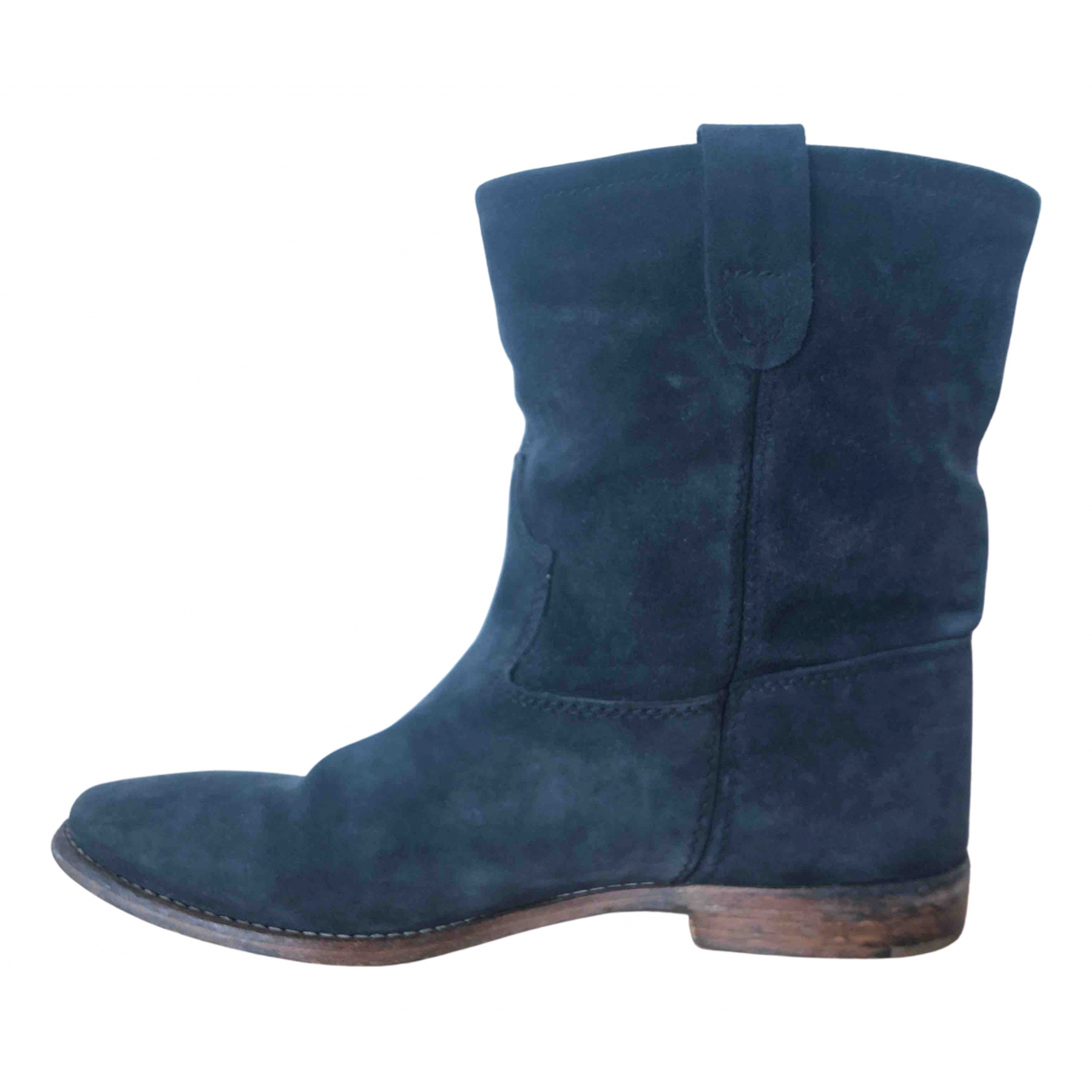 Isabel Marant Crisi  Anthracite Suede Ankle boots for Women 38 EU