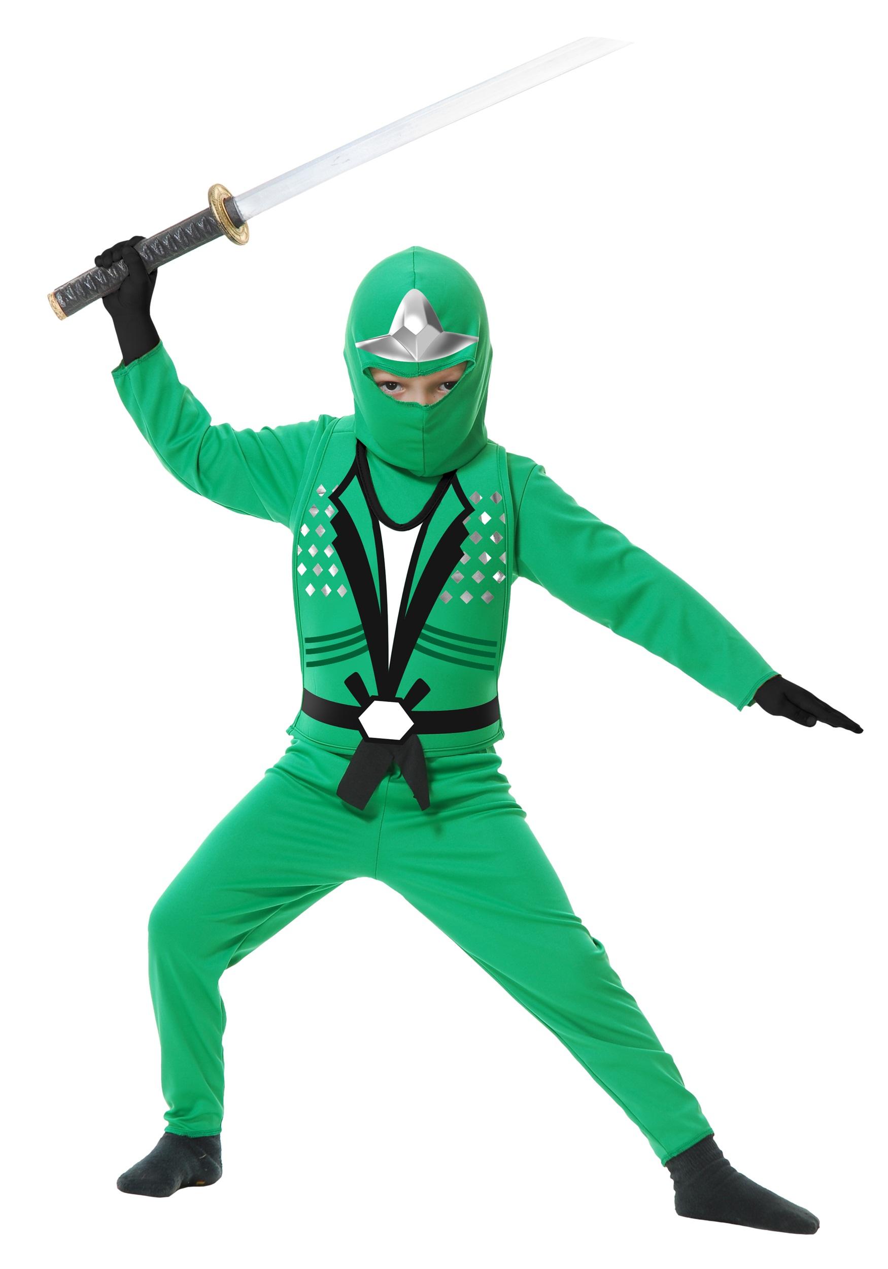 Ninja Avengers Series II Green Kids Costume