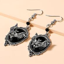 Ohrringe mit Halloween Fledermaus Dekor