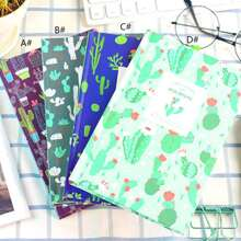 1pack Cactus Pattern Cover Notebook