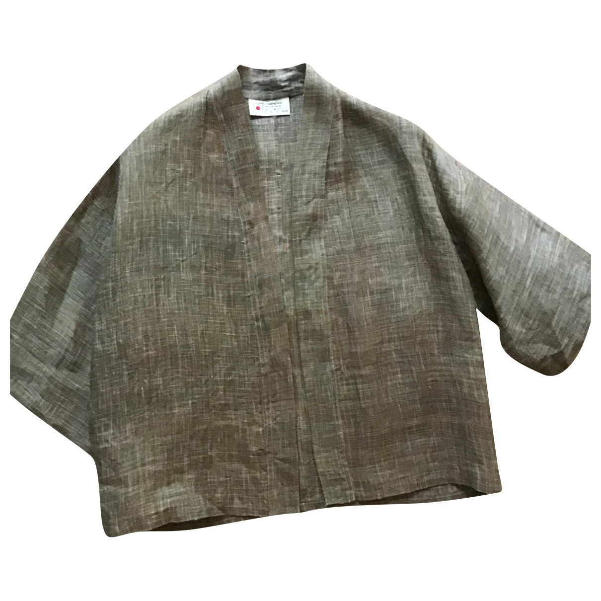 Non Signé / Unsigned \N Ecru Linen jacket for Women One Size FR