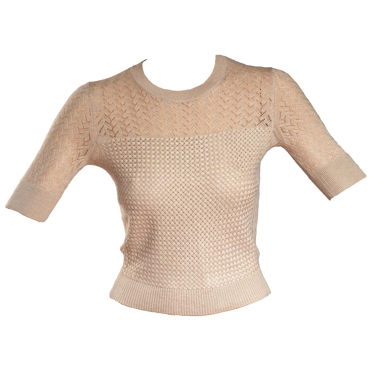 Kenzo - Pull   pour femme en soie - beige