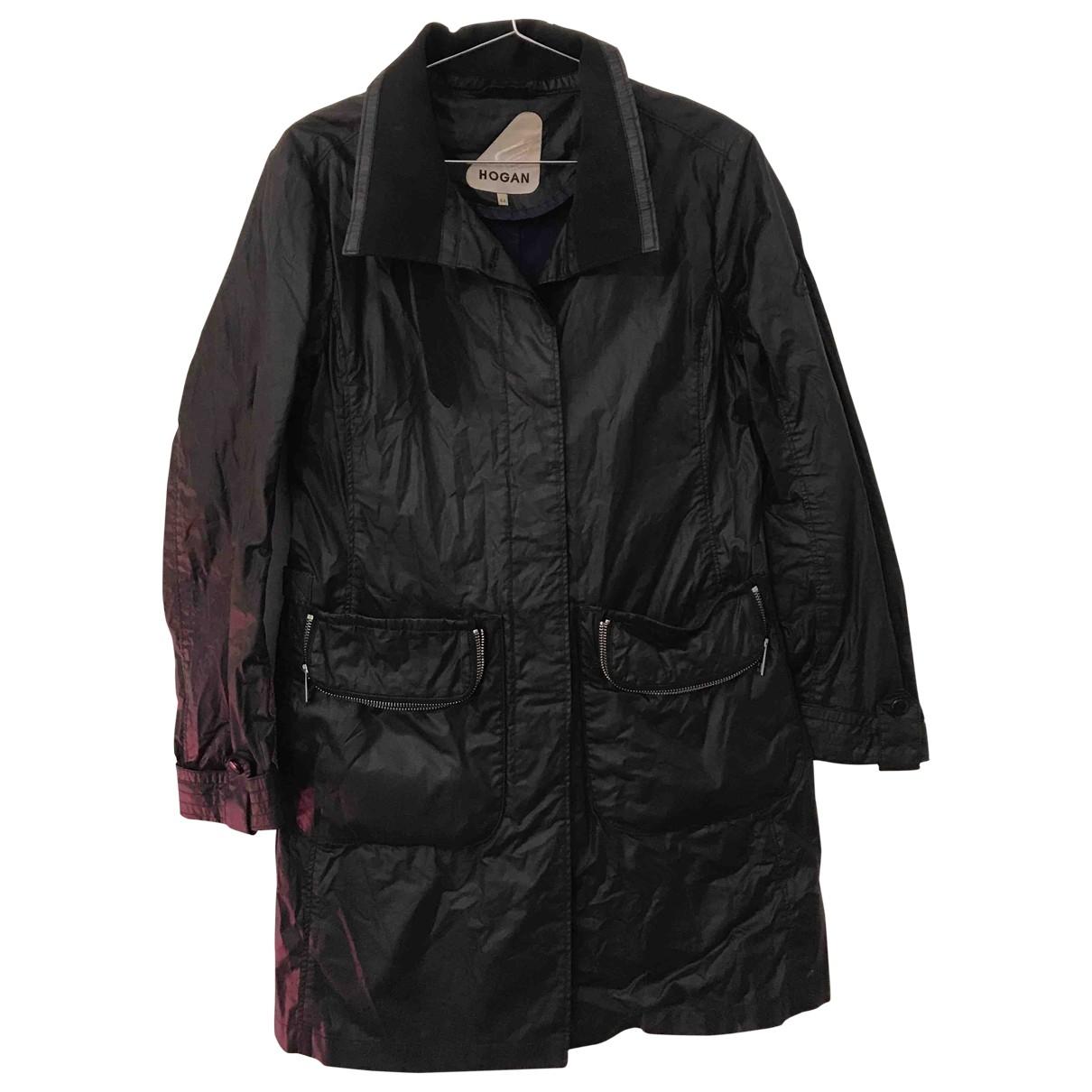 Hogan \N Black Cotton coat for Women 44 IT