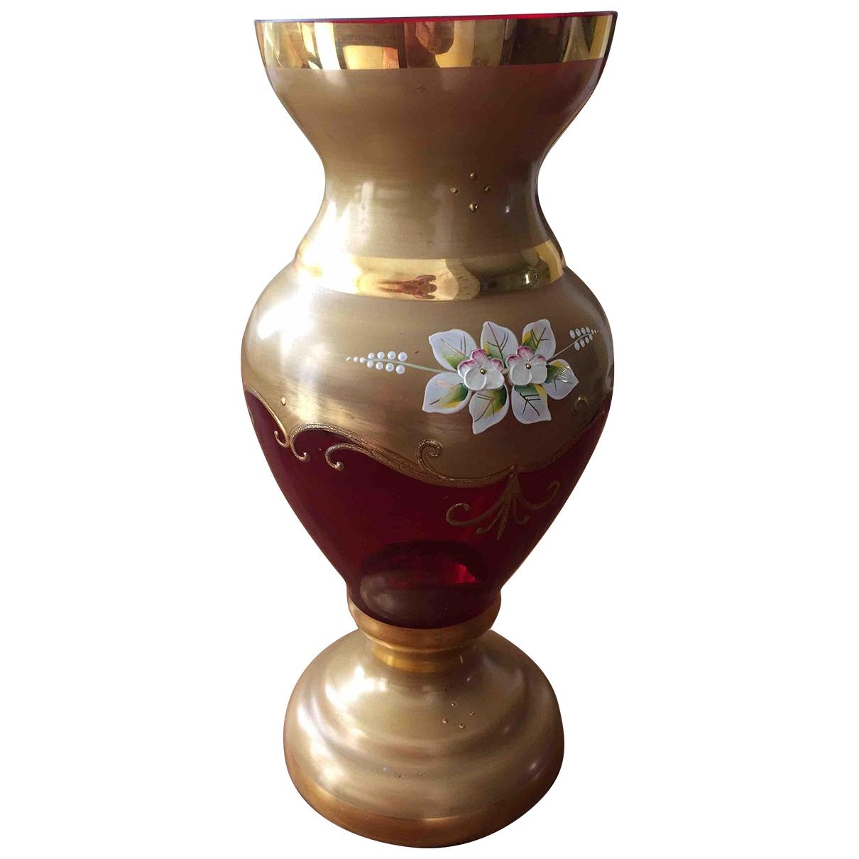 Non Signe / Unsigned \N Accessoires und Dekoration in  Gold Glas