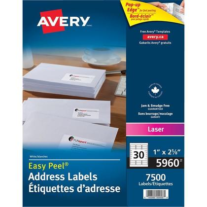Avery@ Easy Peel@ White Laser Address Labels - 2-5/8