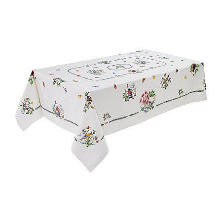 Avanti Botanic Birds Table Cloth, One Size , Beige