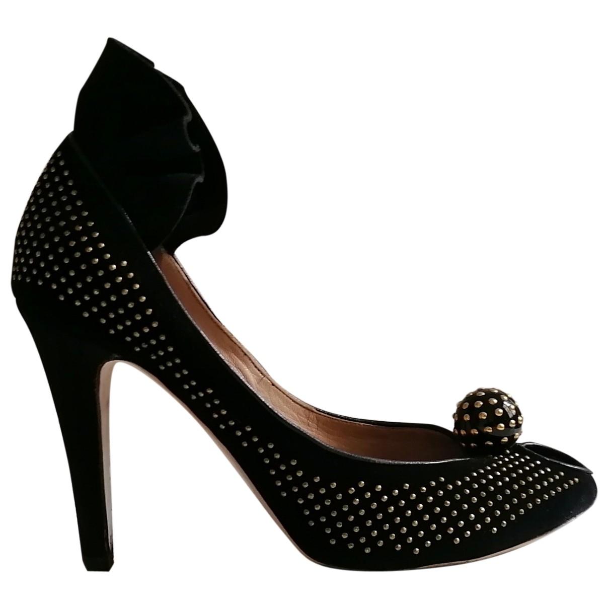 Chloé \N Black Velvet Heels for Women 39.5 EU