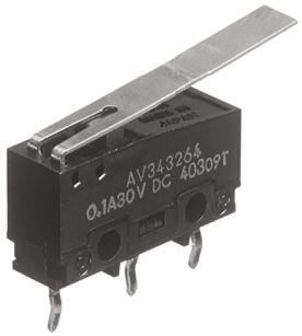 Panasonic SPDT Long Hinge Lever Microswitch, 5 A @ 250 V ac