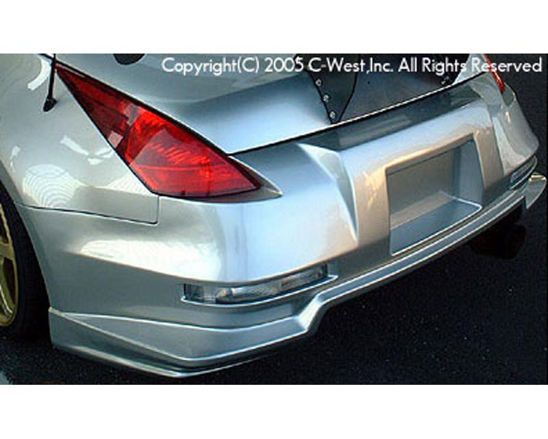 C-West CZ3302A-RBPF Long Tail Rear Bumper E Type Nissan 350Z Z33 03-08