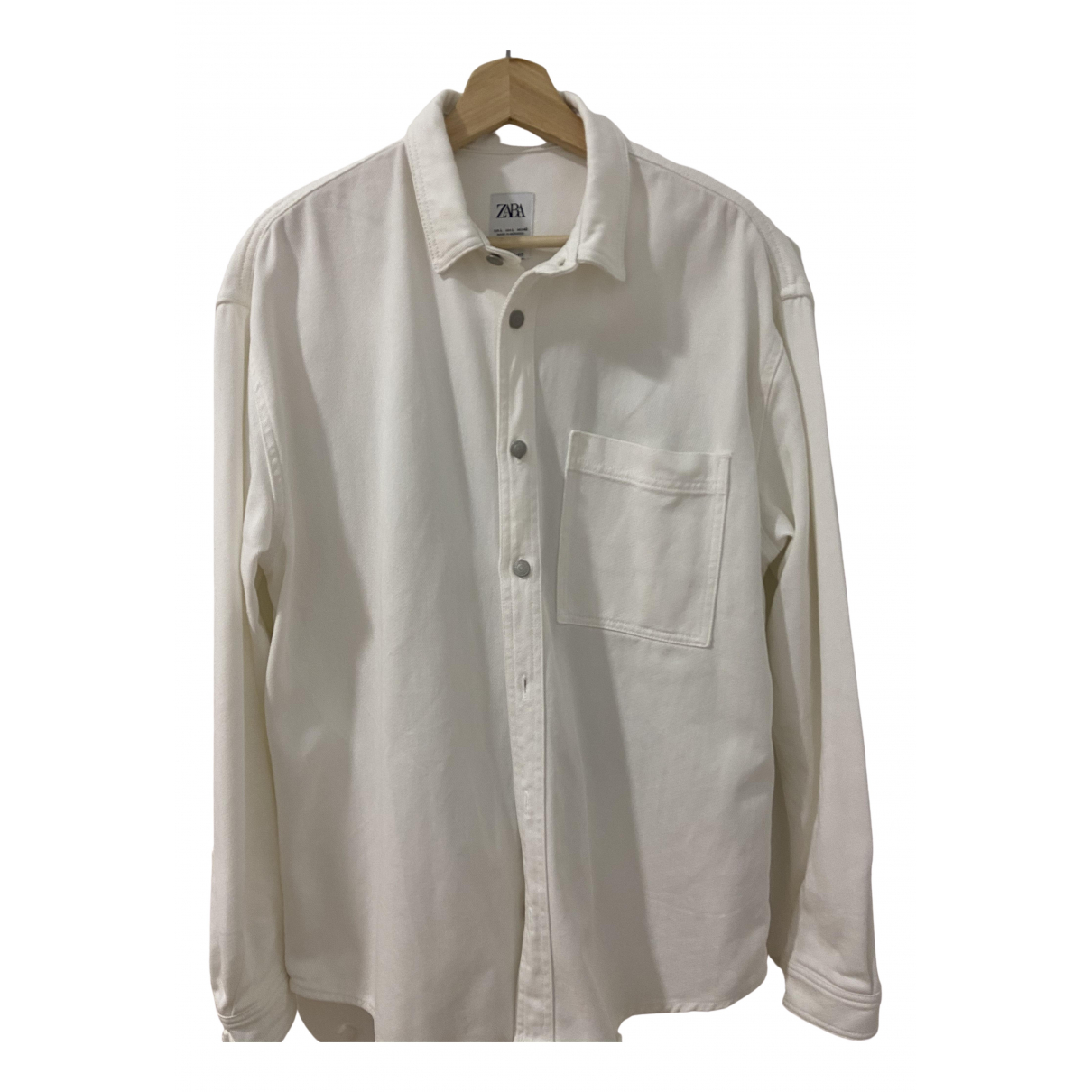 Zara \N White Cotton Shirts for Men L International