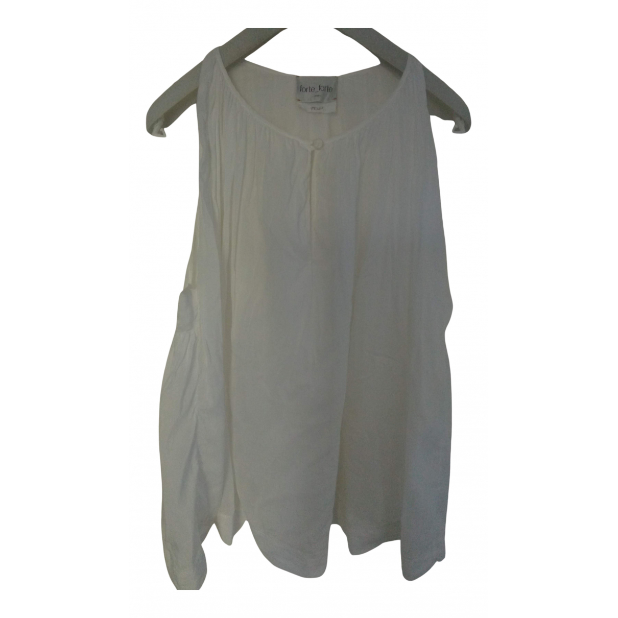 Forte_forte N White Cotton  top for Women 0 0-5