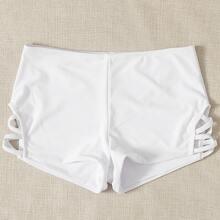 Bikini Shorts mit seitlichem Kreuzgurt