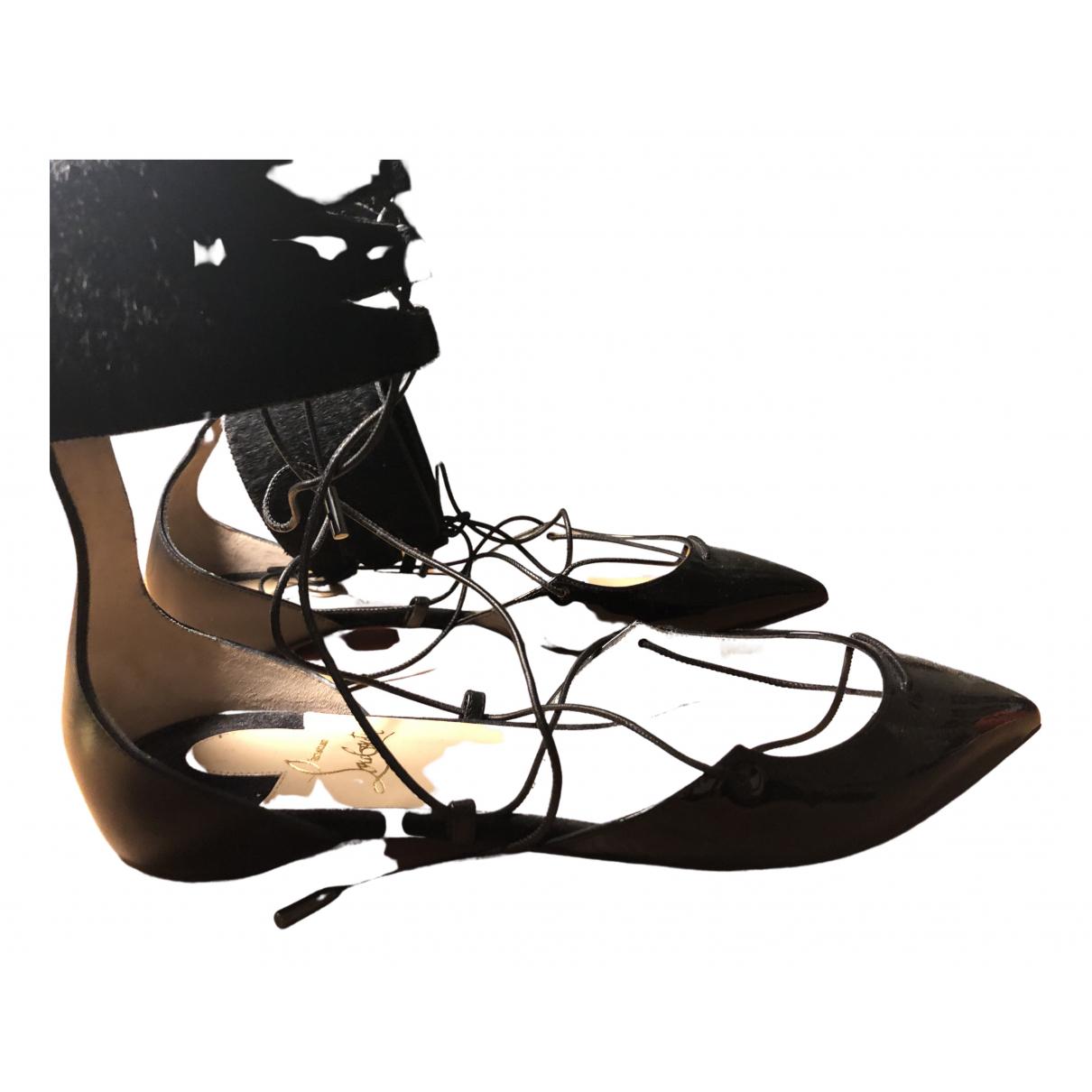 Christian Louboutin - Ballerines   pour femme en veau facon poulain - noir