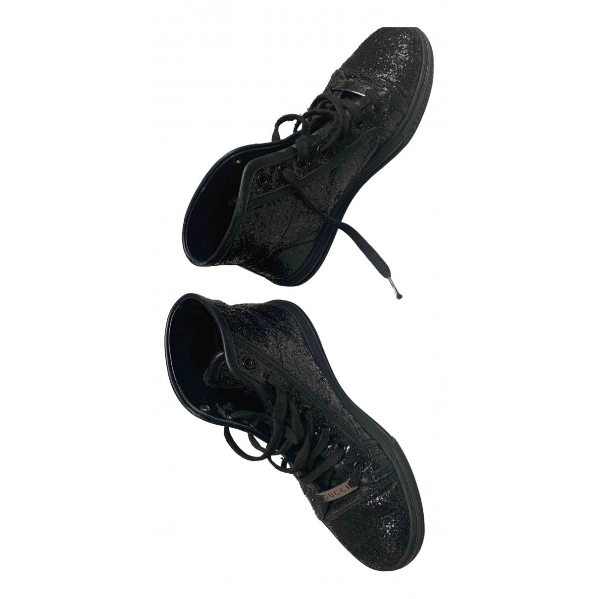 Gucci - Baskets   pour enfant en a paillettes - noir