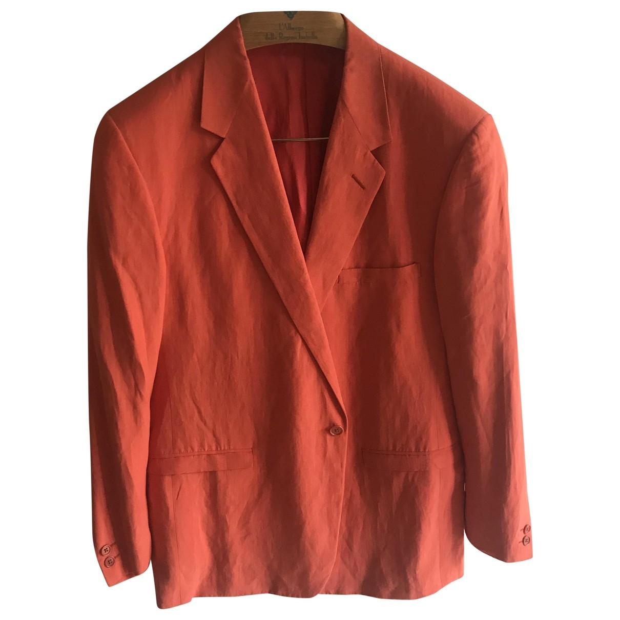 Gianni Versace - Vestes.Blousons   pour homme en lin - orange