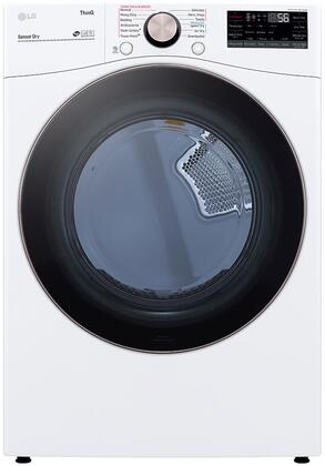 DLGX4001W White Gas Dryer with 7.4 cu. ft. Capacity  Sensor Dry  TurboSteam Technology and Wi-Fi