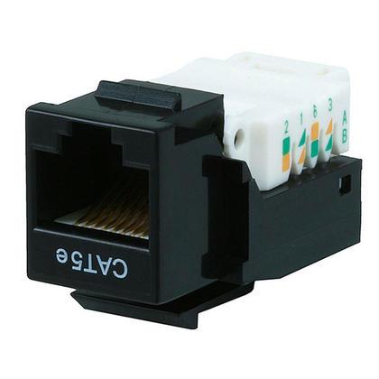 Prise Keystone sans fil Cat5e RJ45 - noir - Monoprice®