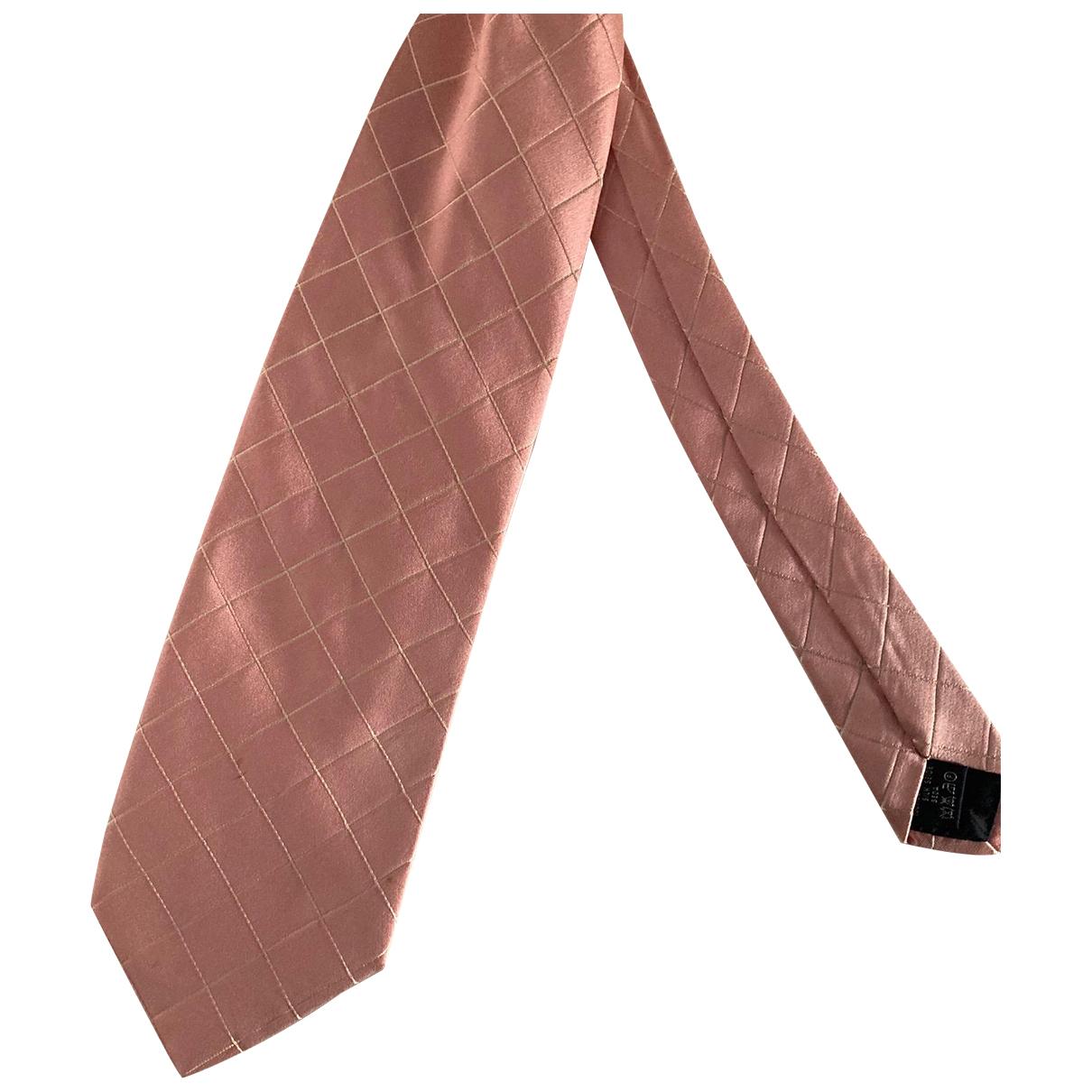 Burberry - Cravates   pour homme en soie - rose